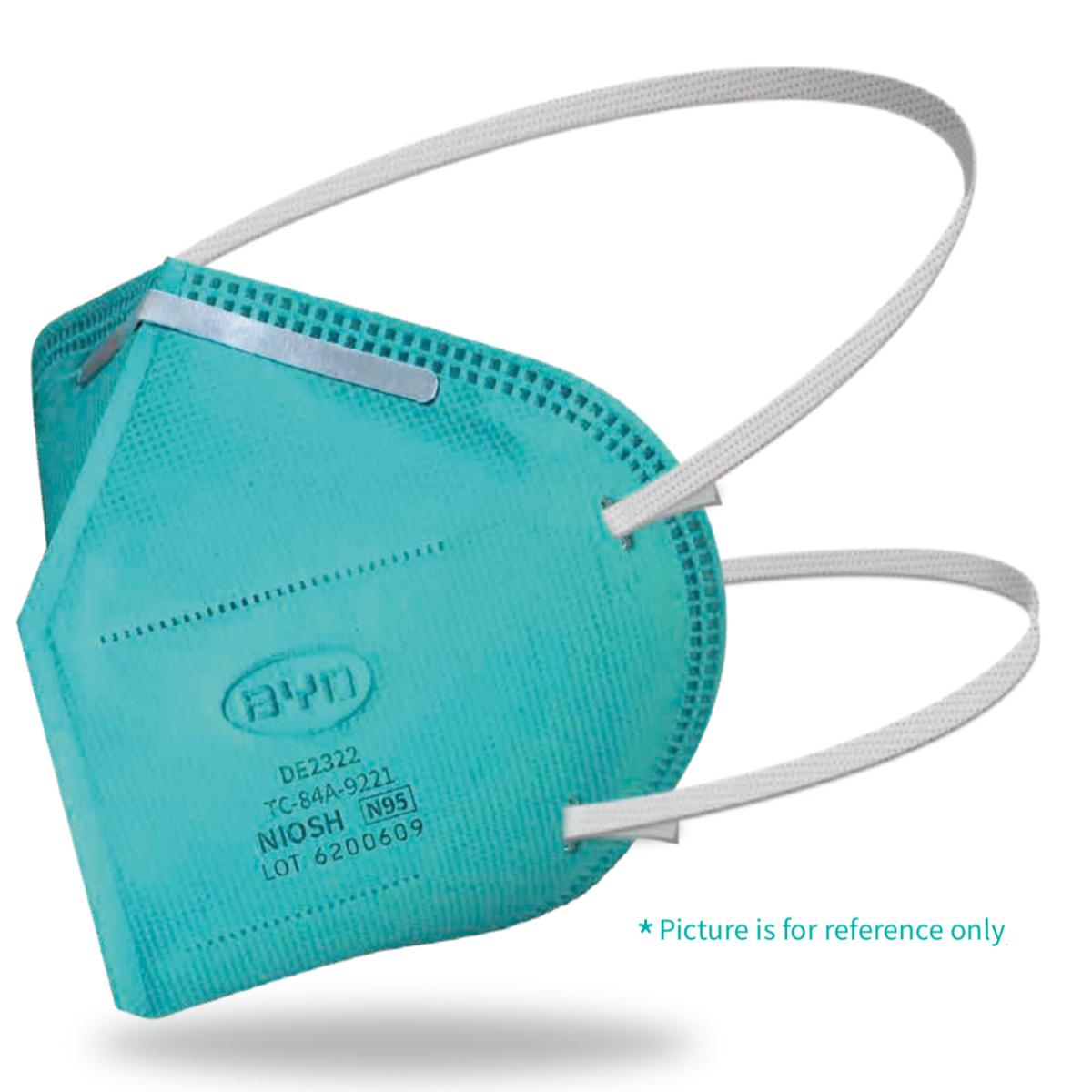 N95 Respirator Mask, NIOSH-Certified, Box of 20