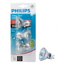Philips LED Indoor Flood 50W MR16 GU10, 3-Pack (10 pcs)