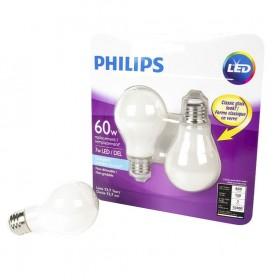 Philips LED A19 Light Bulb Daylight 7w/60w 2-Pack (10 pcs)