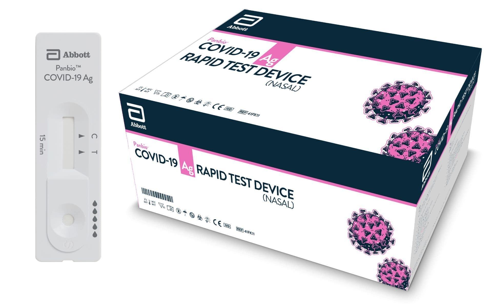 Abbott Panbio™ COVID-19 Antigen Rapid Test, Box of 25