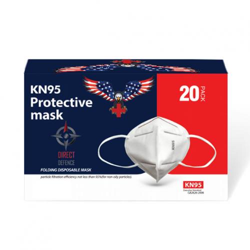 Direct Defence USA KN95 Respirator Mask, Box of 20