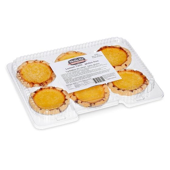 Molly B's Gluten-Free Lemon Curd Tarts, 6pk x 12/case