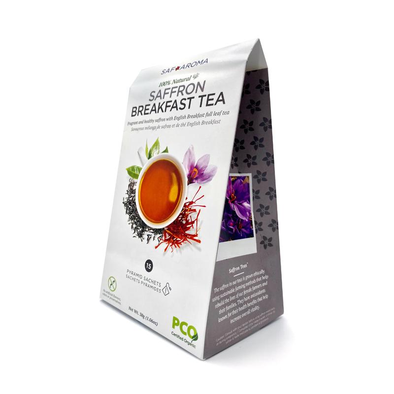 Saffron Breakfast Tea | Certified Organic - Pack (15 Sachet/teabags)
