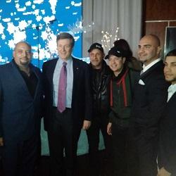 CHIN RADIO Christmas party with Fito Blanko and Toronto mayor John Tory